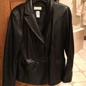 Covington Black Leather Coat